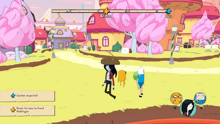 Les phases d'exploration dans Adventure Time: Les Pirates de la Terre de Ooo