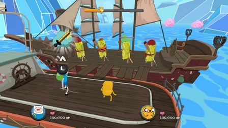 Exemple de combat dans Adventure Time: Les Pirates de la Terre de Ooo