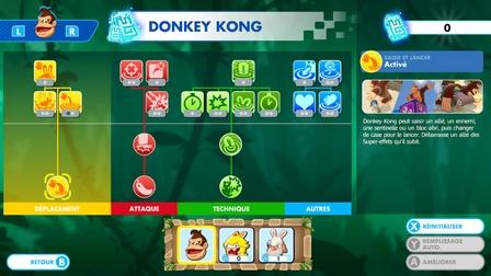 Arbre de compétences de Donkey Kong dans le DLC