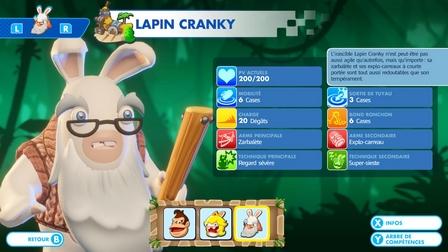 Capacités de Lapin Cranky