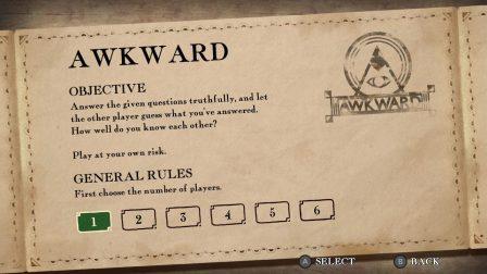 Sélection du nombre de joueurs dans Awkward