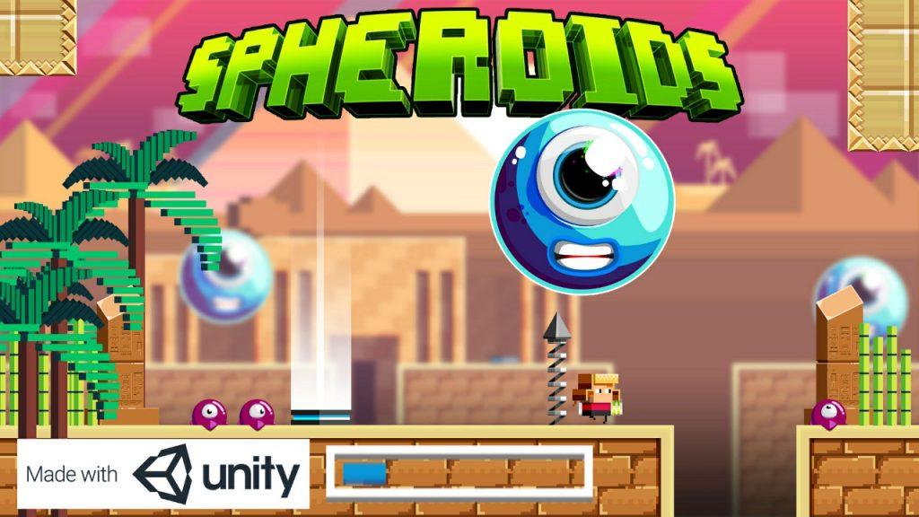 Capture d'écran de Spheroids - Ecran titre