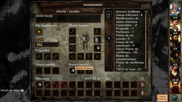 Inventaire (Icewind Dale)