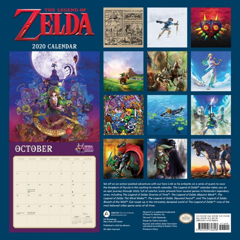 Calendrier De Lavent Pokemon 2020.Bon Plan Calendrier 2020 Pokemon Zelda Mario Metroid