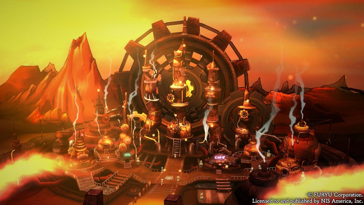 Dessins 2D des villes dans The Alliance Alive HD Remastered
