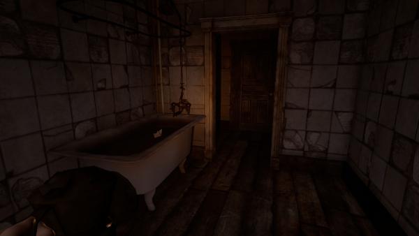 baignoire et salle lugubre